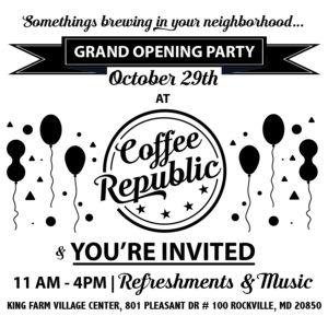 Coffee Republic, Coffee Rockville, MD, Facebook advertisement